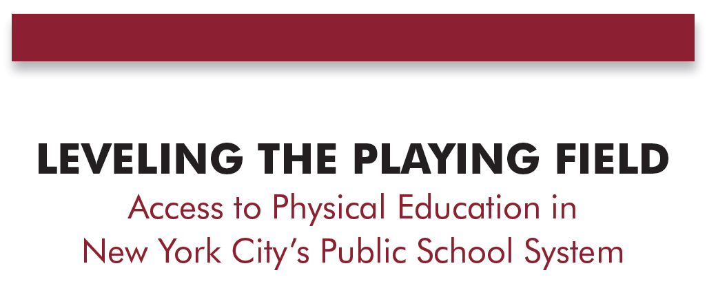 NYLPI Releases Report on State of Physical Education in New York City Public Schools